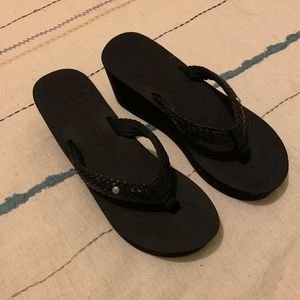Roxy Wedge Flip Flops